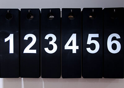 FITTING ROOM CLOTHING NUMBER